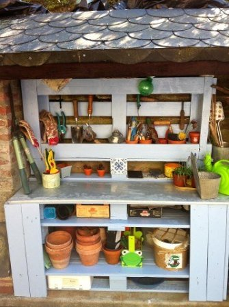 pallet potting table 2