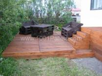 pallet terrace and furniture