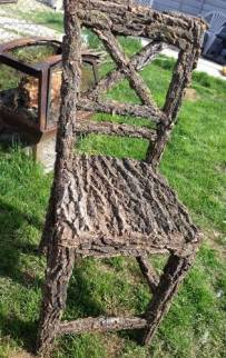 Chair covered in bark- comfy?
