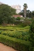 The Ajuda Palace beyond the garden