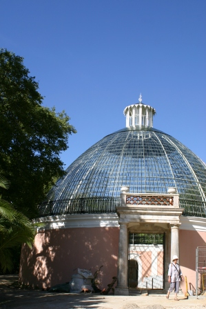 The domed Glasshouse...