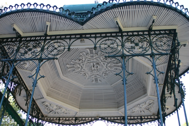The splendid ceiling of the bandstand in Estrela Gardens, Lisbon- a highlight of a recent visit