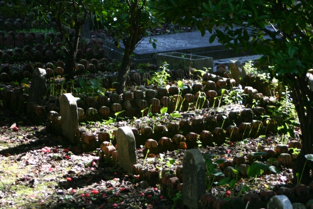 Teracotta edging used to demarcate graves