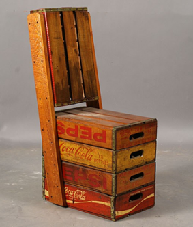 Pepsi Max crate chair
