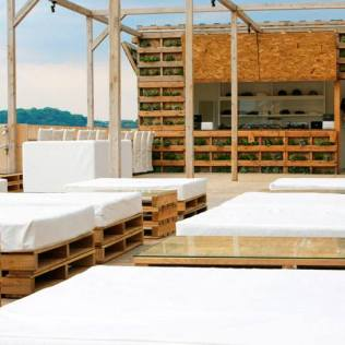 A beach house from pallets