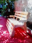 Bench from pllets