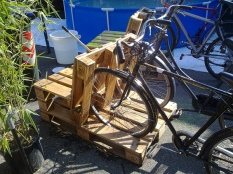 Pallet cycle rack