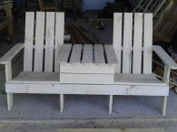 'Jack and Jill' seat from pallets