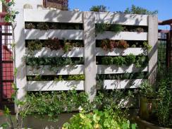Vertical planter from pallets