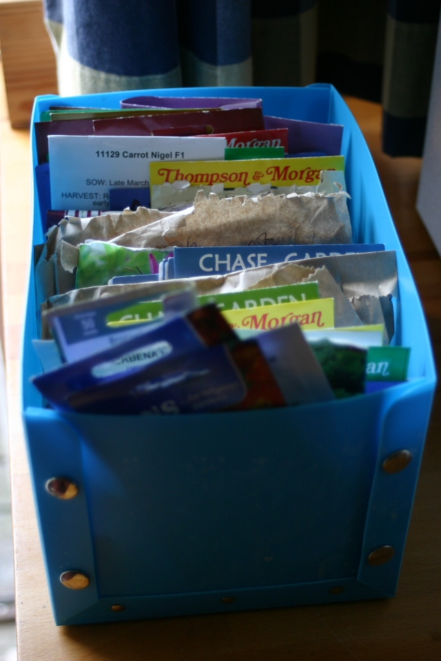 Seeds sorted- I'v e been through my supply and filed them in date order for sowing