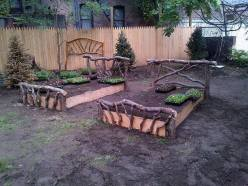 'Rustic raised beds' !!