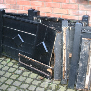 Out with the old- and rather rotten planters