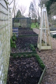 A few of the turned raised beds in the kitchen garden- its a joy having a sandy loam soil!