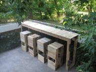Pallet bar and stools...