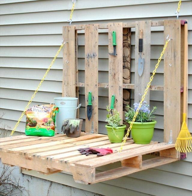 A Natty Garden Shelf/table