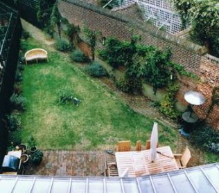 A triangular garden - before