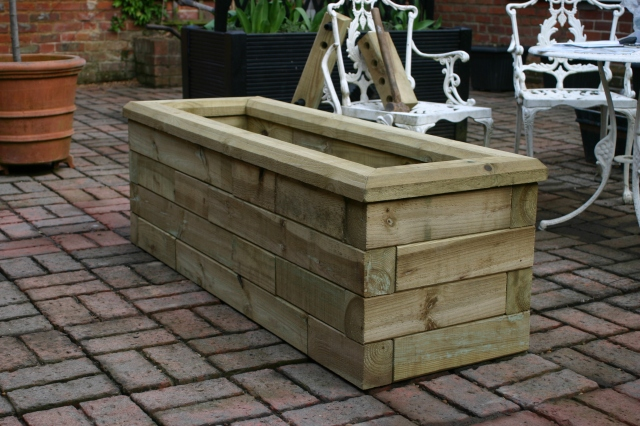 The finished 'Woodblockx' planter- soon to be home to an alpine collection