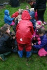 Having fun filling the planters with compost- and learnign about the stages of compost -making.