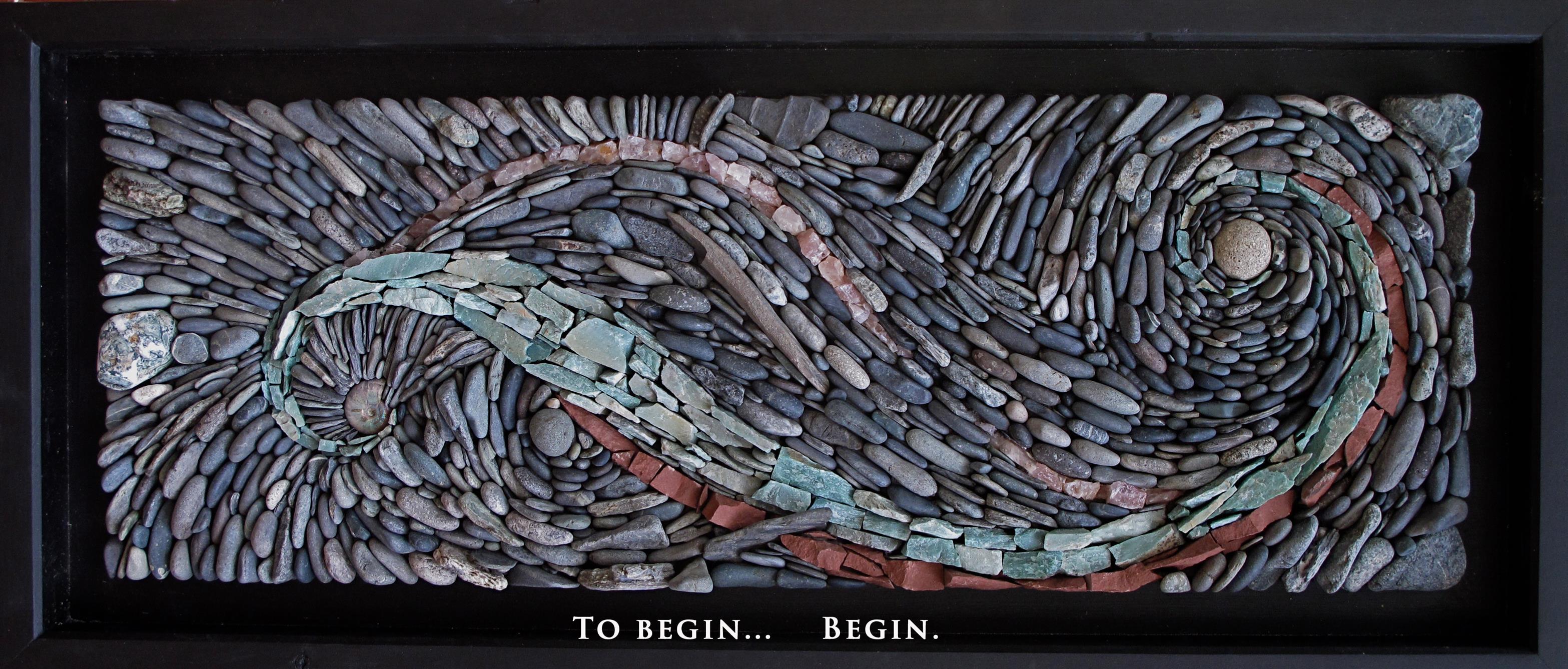 Natural Stone Art : Natural stone mosaic ancient art of old school garden