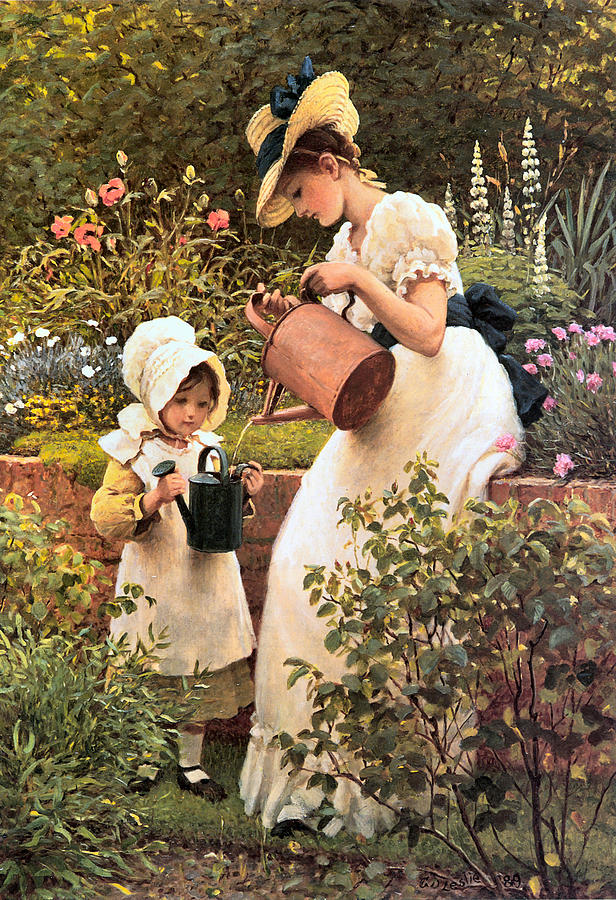 'The Young Gardener'- George Dunlop Leslie1889