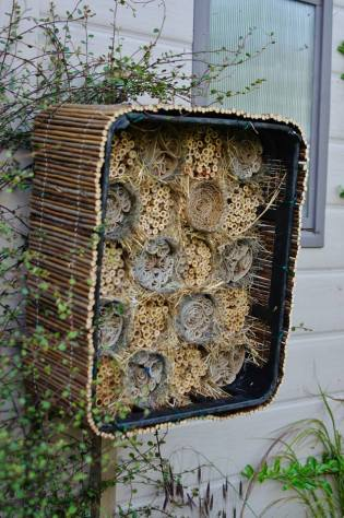 And how about using an old bottle crate to provide a stylish recycled home for bees?