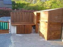 Garden shed cum woodstore