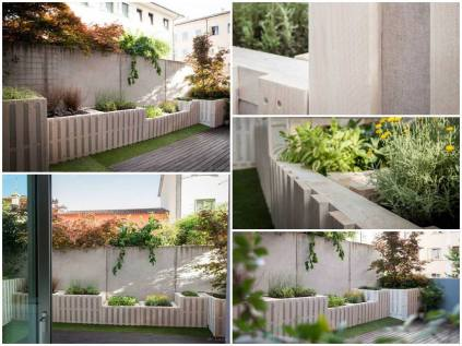 Beautiful terrace planters