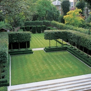 A pleached enclosure