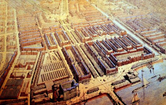 A bird's-eye view of the new Plan Zuid as envisaged by Berlage © Wikimedia Commons