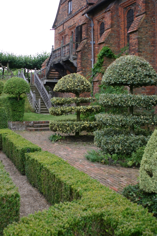 Clipped hollies at Hatfield House, Hertfordshire