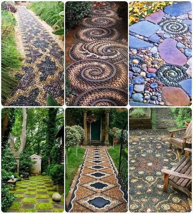 Mosaic Garden Path Stones