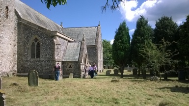 The front of the church yard with Yew avenue added a few years ago