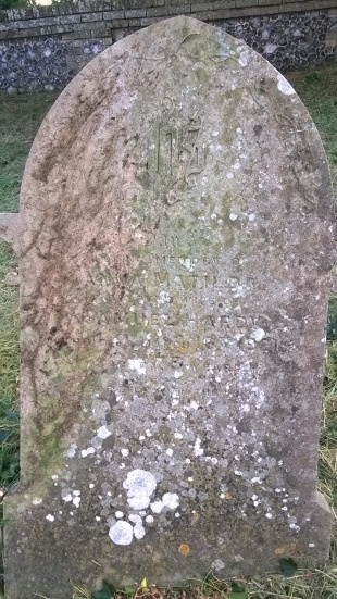 A gravestone cleaned of its Ivy- dating from early 20th century