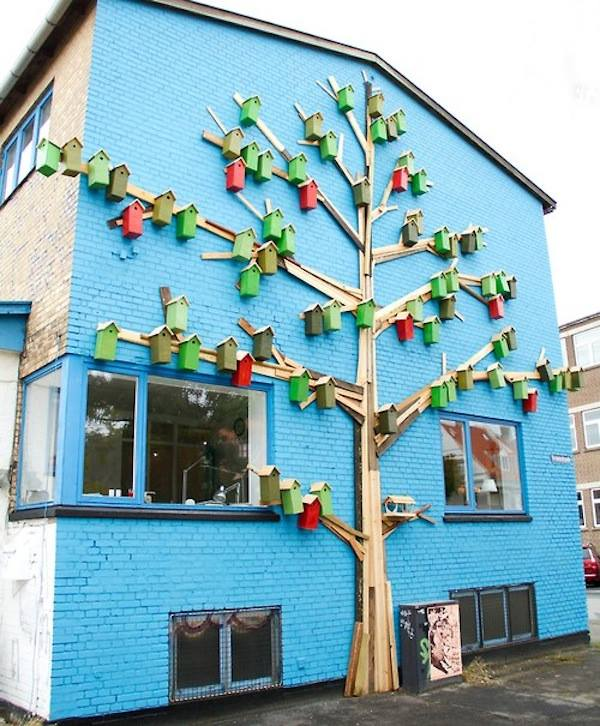 happy city birds project recycled