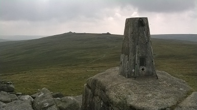 The Triangulation point on Yes Tor