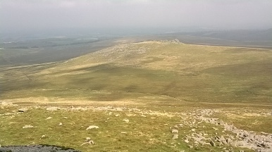 View back to West Mill Tor from Yes Tor