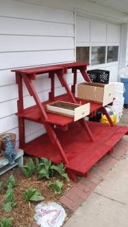 pallet plant stand with drawers