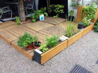terrace and planters from pallets