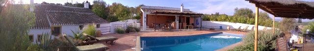 A panorama of the Cortijo where we stayed