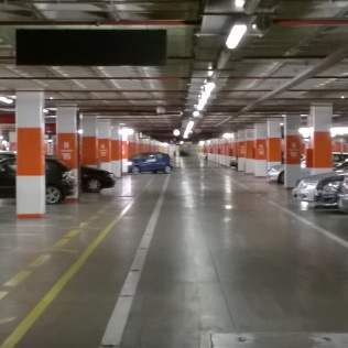 Underground car park, shopping mall, Almada, Portugal: Bowels of Consumerism