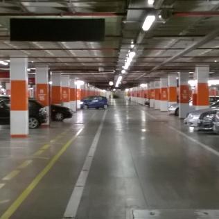 Underground car park, shopping mall, Almada, Portugal: Bowels of Consumerism