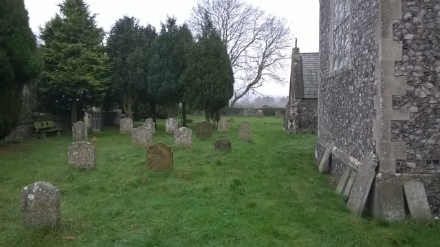 St. Peter's churchyard-  beginning to get my thoughts together...
