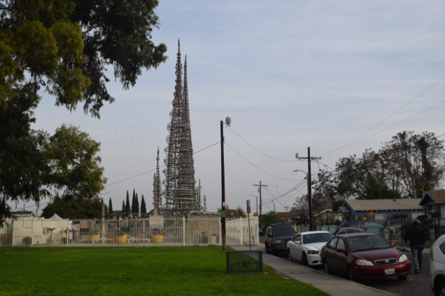 Watts Towers seen from the adjoining park.