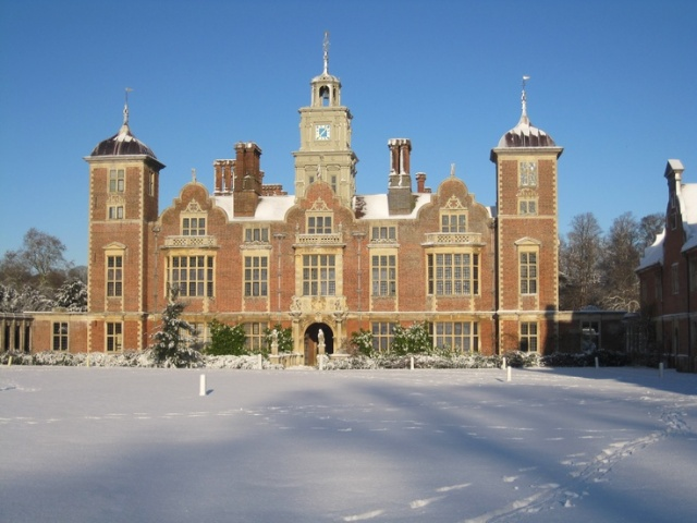 Blickling Hall, under some recent snow