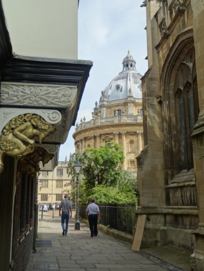 """Oxford, """"city of dreaming spires""""."""