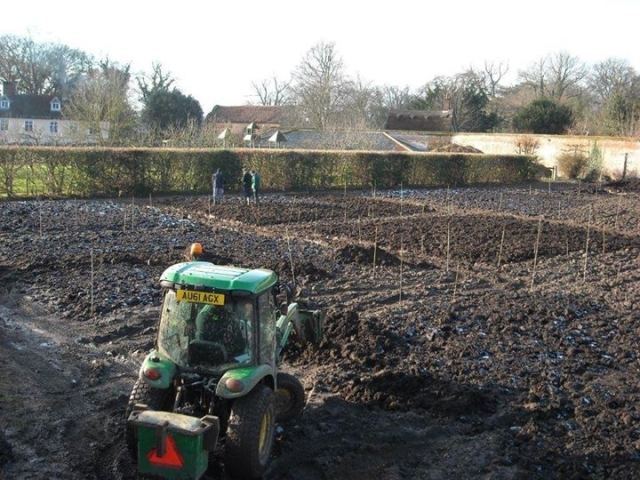 Muck spreading in the Walled Garden- get to work worms! Picture: Michael Owers