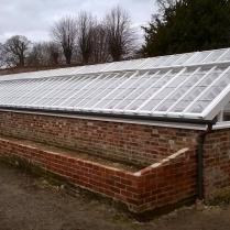 The Newly restored glasshouse..