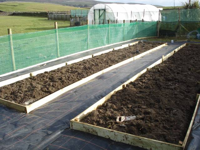 Windbreak fabric can be an effective method of sheltering your vegetables