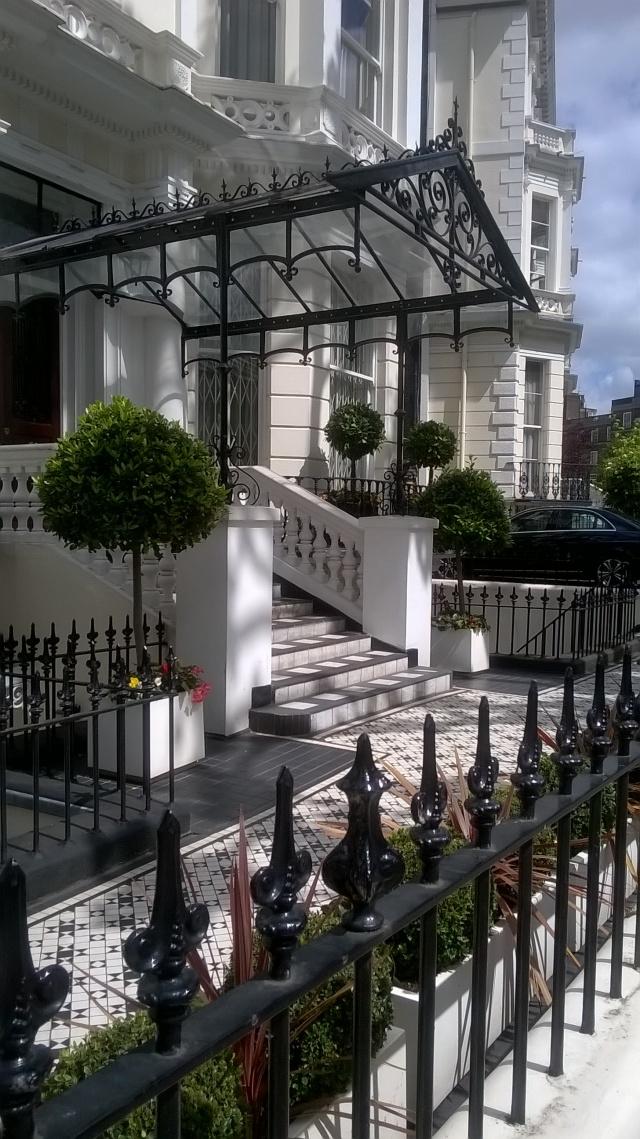 An elegant entrance near Holland Park, London