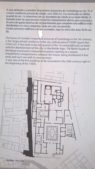A plan and description of the garden and the huge villa it was housed within